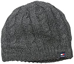Tommy Hilfiger Men's Cable Hat, Charcoal, One Size