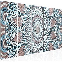 murando - Cuadro Mandala 200x80 cm - impresión de 5 Piezas - Material Tejido no Tejido - impresión artística - Imagen gráfica - Decoracion de Pared - Oriente f-A-0670-b-m
