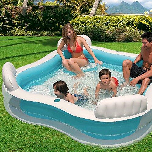 Intex Kinderpool Swim-Center Family Lounge Pool, Mehrfarbig, 229 x 229 x 66 cm