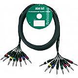 Adam Hall - Cable estéreo (3 m, 8 x 6,3 mm, conector estéreo a 8 x 6,3 mm)