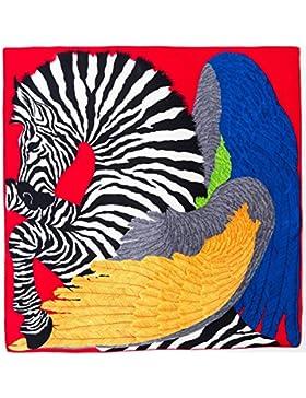 Upper-La primavera/verano de seda Bufandas cuadradas pequeñas señoras versátil de doble uso pañuelos de seda bufanda...