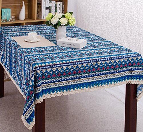 - Hotel-stil Handtuch (AISHUAIGE Sonnenblumen feine Leinen Tischdecken Vintage-Stil ethnischen Stil Hotel Tischdecken Tischdecke Handtuch, E)