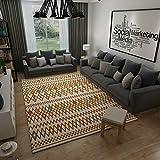 GRENSS Modernes, Minimalistisches Nordic Geometrische Teppich Sofa im Wohnzimmer Couchtisch Teppiche Schlafzimmer mit Etagenbetten und Wolldecken rechteckig, 120 cm * 160 cm, BO-02