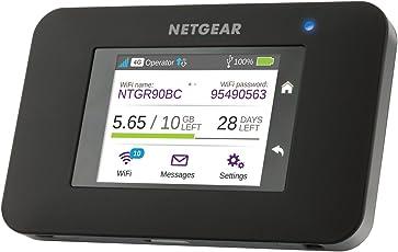Netgear AC790-100EUS Aircard Mobiler Hotspot Router (mit bis zu 300 Mbit und Cat 6 LTE / 4G, ohne SIM-Lock) schwarz