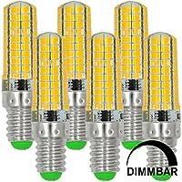 MENGS® 6 Stück Dimmbar E14 LED Lampe 7W AC 220-240V Kaltweiß 6500K 80x5730 SMD