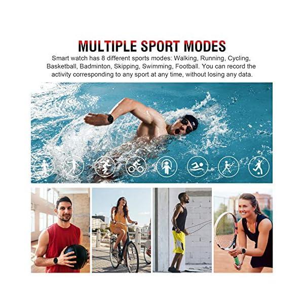 Smartwatch Deporte para Mujer Hombre con Pantalla Completa Táctil Monitores de Actividad Impermeable Outdoor Fitness… 10