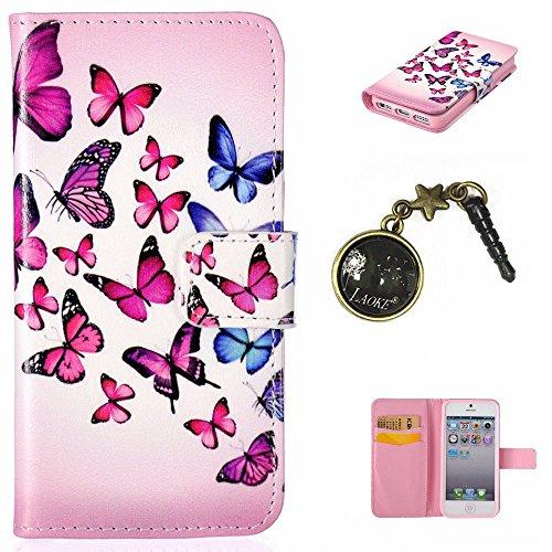 PU Silikon Schutzhülle Handyhülle Painted pc case cover hülle Handy-Fall-Haut Shell Abdeckungen für Apple iphone5 5S SE +Staubstecker (6)