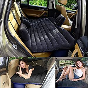 LABABE SUV Inflatable Mattress With Air Pump/Heavy Duty Inflatable Car Mattress Bed for SUV Minivan Back Seat Extended Mattress-Mobile Inflatable Air Bed Cushion Dedicated for Sleep Rest and Intimate Motion