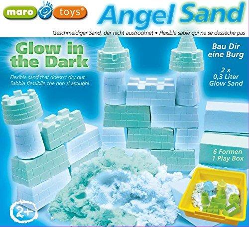#Angel Sand – Kinetischer Spielsand – Castle Glow in the dark – Der Sand der im Dunkeln leuchtet! by Maro Toys#