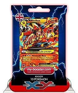 MEGA M BLAZIKEN EX (Braségali) XY86 210HP XY08 - Booster de 10 cartes Pokemon anglaises my-booster