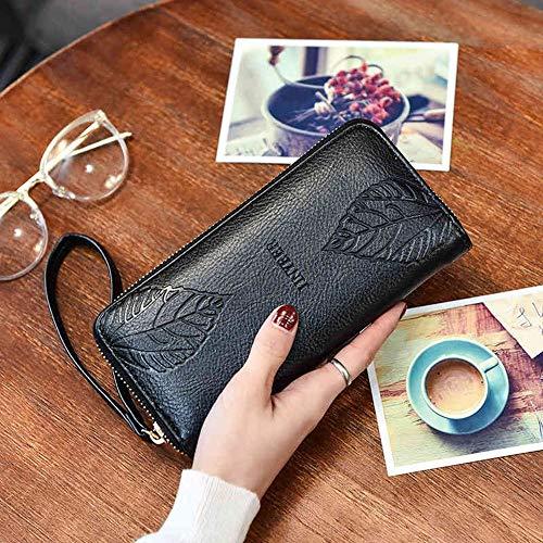 JJHR Geldbörsen Portemonnaie Brieftasche Geldbeutel Handtasche süße Brieftasche Frauen Lange Frauen Brieftaschen Haspen Geldbörsen,A