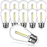 ProCrus Ampoule LED E27 S14,Ampoule Edison vintage 1W, Ampoules Rétro Blanc Chaud 2700K,équivalent Lampe à Incandescence 10W,