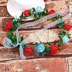 Headdress, Transer® Charm Flower Crown Headband Floral Hairband Festival Wedding Accessories Headdress by Headdress