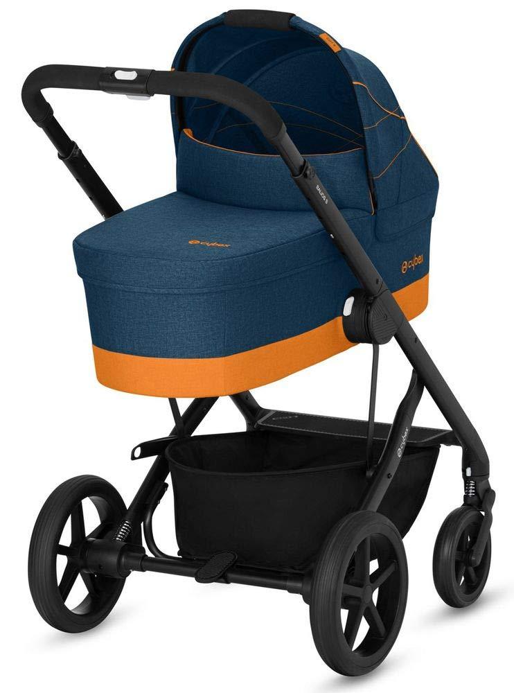 CYBEX Gold Kombikinderwagen Balios S mit Kinderwagenaufsatz Cot S, Ab Geburt bis 17 kg (ca. 4 Jahre), Denim Kollektion…