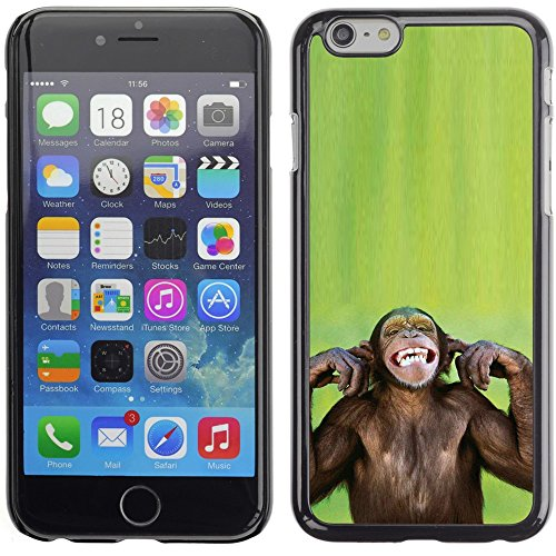Graphic4You Lustig Niedlich Affe Tier Design Harte Hülle Case Tasche Schutzhülle für Apple iPhone 6 Plus / 6S Plus Design #6