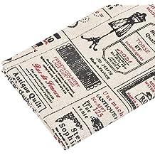 Paño de tela vintage costura para tapizar, scrap, costura, decoracion caravanas,...1 M X 50 CM.de OPEN BUY