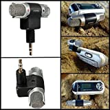 ELEGIANT Mini Stereo Mic Mikrofon für PC Laptop Handy MD-Recorder Aufnahmegerät VoIP MSN Skype usw