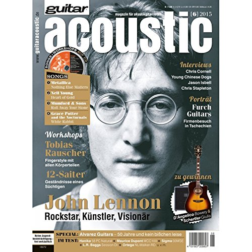 guitar acoustic 6 2015 mit CD - John Lennon - Interviews - Akustikgitarre Workshops - Akustikgitarre Playalongs - Akustikgitarre Test und Technik - Akustikgitarre Noten