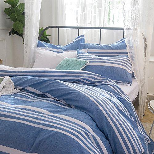 Auf Einem Damast Teppich (Lausonhouse 100% Baumwolle Garn gefärbt Seersucker Bettwäsche-Set - 135x200)