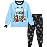 Roblox Youtube Game Niños Chicos Manga Larga Navidad Pijamas Dos Piezas Pjs 6-13 Años