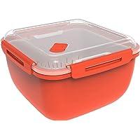 Rotho Memory Microwave Cuiseur à vapeur 2,5l avec tamis pour micro-ondes et cuiseur à vapeur, Plastique (PP) sans BPA…