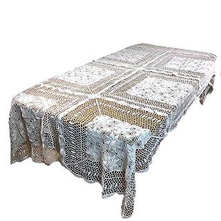 Big Crochet Vintage Elfenbeinfarben Tischdecke Tischläufer 31x 3130x 6060x 6060x 9060x 120, 100 % Baumwolle, weiß,