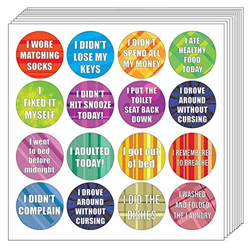 Creanoso Aufkleber für Erwachsene Serie 3 (10 Blatt) - lustiges Gag-Sticker-Set - tolles Geschenkset - Wandaufkleber und Notizkarten