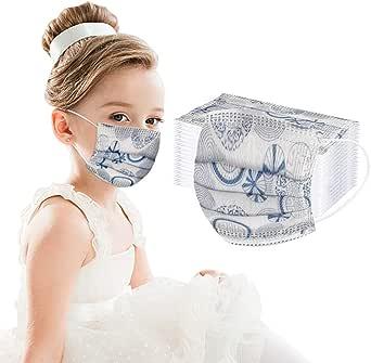 NEWLUK Vestito Bambini Viso monouso 50 Pezzi PC Viso colorato Protettivo per Bambini a 3 Strati Antipolvere