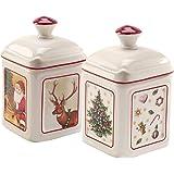 Villeroy & Boch - Special Offer Charm Confiturier Toy's Delight 2pièces, Pot à Confiture en Porcelaine Dure, Multicolore, Ca