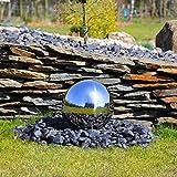 CLGarden Edelstahl Kugel aufwendig poliert 30cm für Springbrunnen Gartenbrunnen Zierbrunnen Kugelbrunnen Wasserspiel