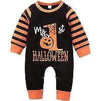 Borlai 0-24M - Tutina per neonato con motivo a righe, per Halloween