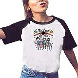 T-Shirt Stranger Things Fille, Tee Shirt Stranger Things Ado Fille Eleven Ringer T-Shirt Enfant Femme Été Manche Courte Shirt