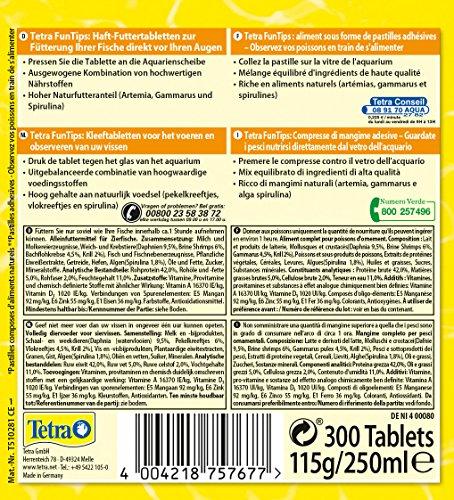Tetra FunTips Tablets Haft-Futtertabletten, Hauptfutter, haftet an der Scheibe, zum Fische beobachten, 300 Tabletten - 6