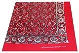 Tobeni 548 Bandana Kopftuch Halstuch Nickituch in 100 Baumwolle für Damen und Herren Farbe Paisley Rot Grösse 54 cm x 54 cm