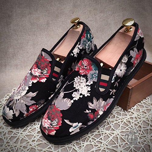 LvYuan Unisex scarpe di stoffa cinese tradizionale / informale retrò Breathe pattini del ricamo / scarpe Kung Fu / Arti marziali / slip-on scarpe Black