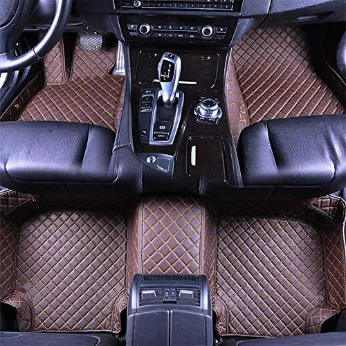 RUIX Auto Fußmatten GM-Bodenmatten-Leder Material der Jahreszeit 4 Für Das Auto Mit 5 Sitzen, Rutschfeste Abnutzung,Coffee