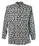 Guru-Shop Goa Hippie Hemd, Herrenhemd, Schwarz, Baumwolle, Size:L, Männerhemden Alternative Bekleidung