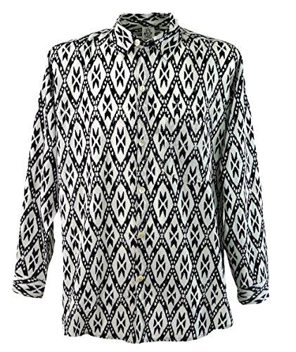 Goa Hippie Hemd, Herrenhemd / Männerhemden Schwarz