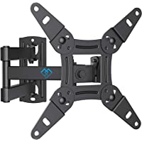 TV Wall Bracket Mount, Swivels Tilts TV mount for 13-42 inch LED LCD flat & curved TV or monitor up to 20kg, max.VESA 200x200mm