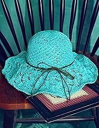 Beach Sun Hat Fashion Summer Sun Hat Hollow Hat Foldable Cooler Seaside Beaches Soft and comfort