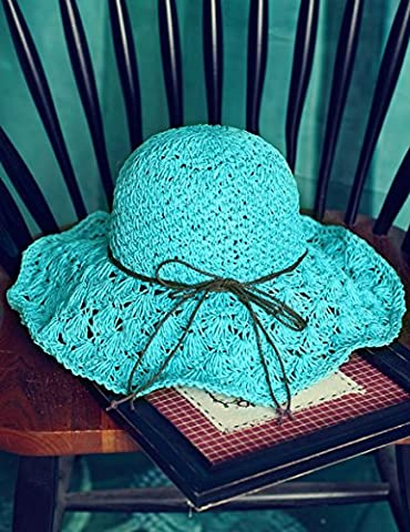 Chapeau de soleil de plage Fashion Summer Sun Hat Hollow Hat Foldable Cooler Seaside Beaches Doux et confortable ( Couleur : 2 )