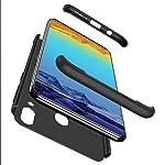 Lanpangzi Kompatibel mit Samsung Galaxy M20 Hülle + Panzerglas 360°Schutzhülle PC Hartschale 360 Grad Full-Cover...