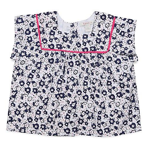 ESPRIT Baby-Mädchen Bluse RJ10071, Mehrfarbig (White 010), 80