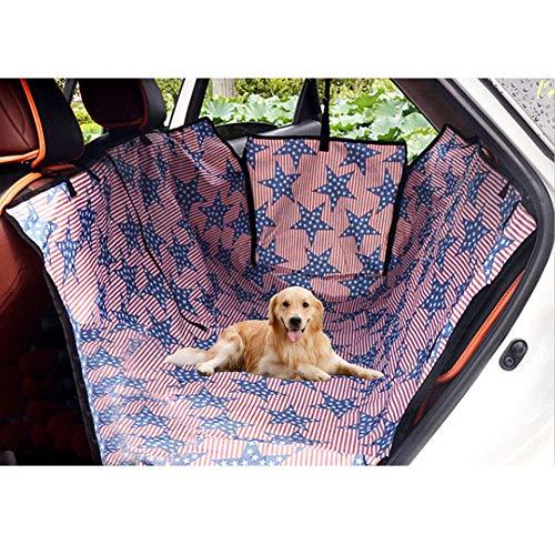 LQSJB rutschfeste gepolsterte Haustier Sitzbezug für Autos LKW, Hund Autositzbezug wasserdicht - Heavy Duty Hund Hängematte mit Sicherheitsgurt und Tasche, mit Seitenklappen (Heavy-duty-hund Hängematte)