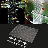 Bazaar 43x38cm Fisch Behälter Aquarium Fischrogen Isolierungs Brett Acrylic Teiler mit Löchern mit...