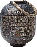 Kare Lampe 38217sol Sultan, 31cm, acier inoxydable, noir