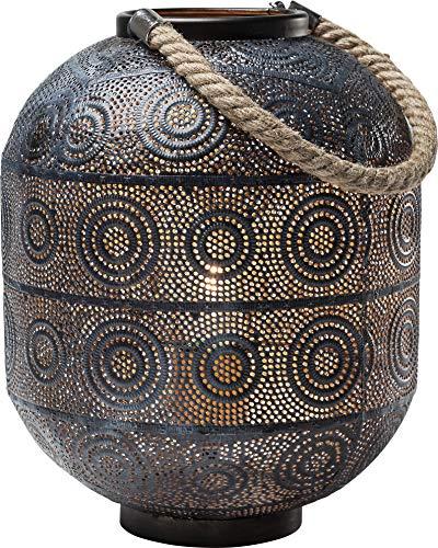 Kare Design Bodenleuchte Sultan 30cm, orientalische Leuchte, Stehleuchte, Tischleuchte schwarz, Laterne mit Henkel, (H/B/T) 30x23x23cm - Asiatische Tischleuchte