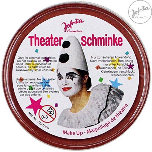 Theaterschminke / Schminke (13 Farben / 25 g) FREI WÄHLBAR (INDIANER - ROT)