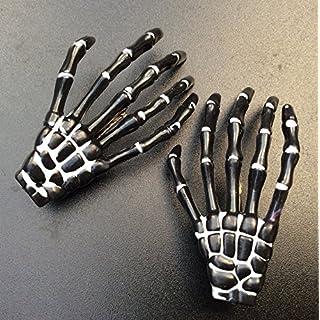ATST Pair (2) Skeleton Claw Bone Hand Hair Clip (Black)