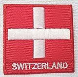 Bügel-Aufnäher Schweiz Flagge Bügel-Patch Fahne Bügel-Applikation Sticker-ei Bügel-bild Flaggen Fahnen zum aufbügeln